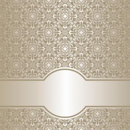 Luxury silver ornamental Background. Illusztráció