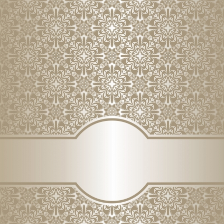 regency: Luxury silver ornamental Background. Illustration