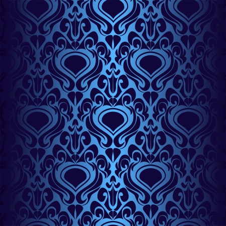 Seamless dark blue wallpaper  Vector