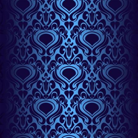 Seamless dark blue wallpaper  Illustration
