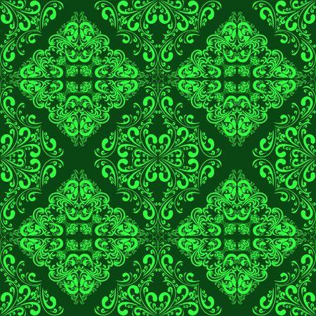 Green seamless wallpaper Stock Vector - 16844676