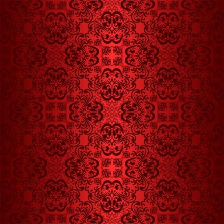 regency: Red seamless wallpaper