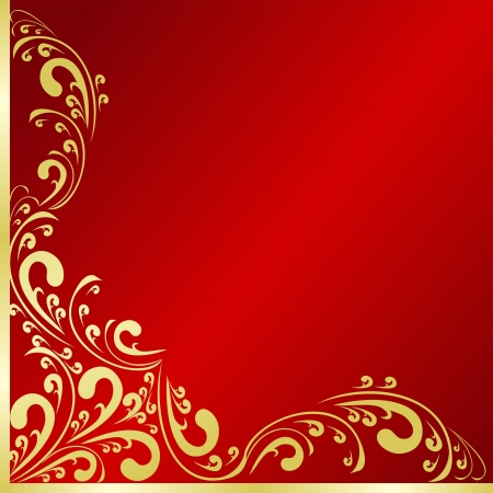 regency: Luxury Background decorated a gold border. Illustration