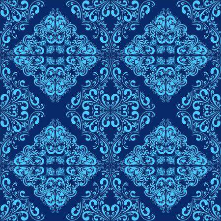 Blue seamless wallpaper Stock Vector - 17323840