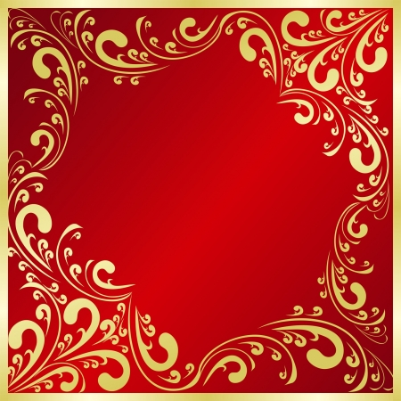 regency: Luxury red Background decorated a gold frame