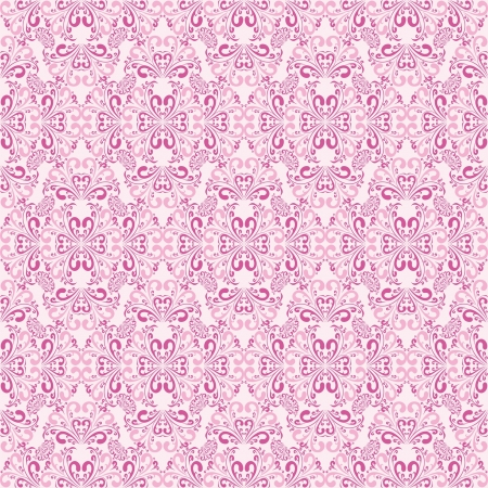 Seamless gently-pink wallpaper  Vector