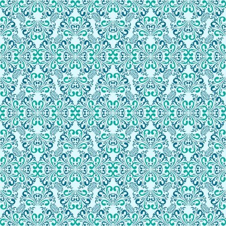 Seamless blue wallpaper Stock Vector - 17447132
