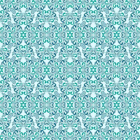 Seamless blue wallpaper Stock Vector - 17447132