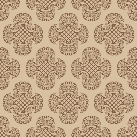 Seamless damask wallpaper Stock Vector - 17447131