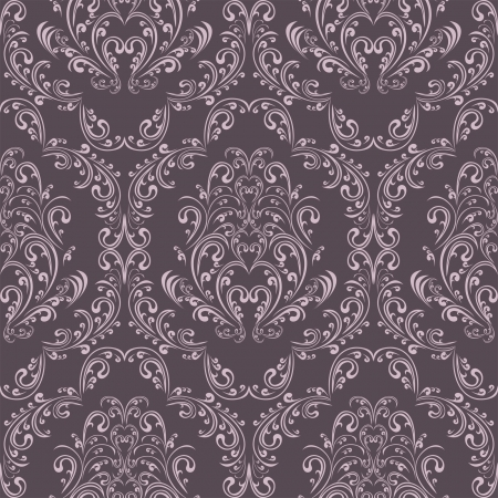 Seamless retro pattern in victorian style. Stock Vector - 17781496