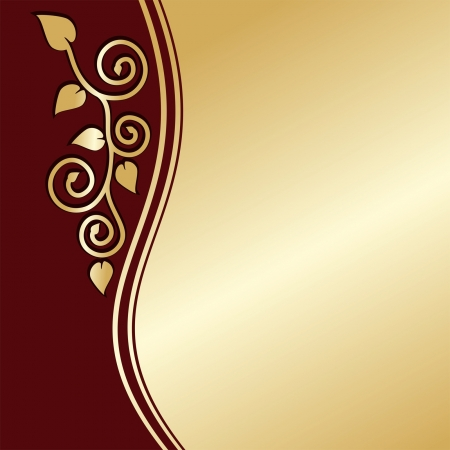 regency: Luxury Background decorated a gold floral ornament. Illustration