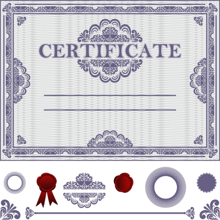 seal stamper: Certificate Template with additional elements.