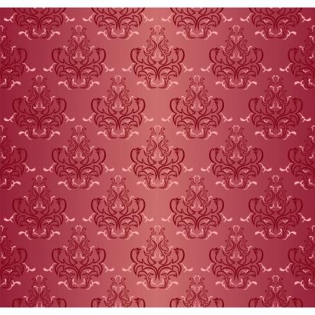 regency: Damask seamless floral pattern. Illustration