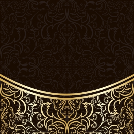 Luxury Background decorated by gold border. Vector
