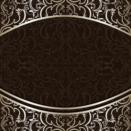Luxury Background decorated by ornamental silver borders. Vector