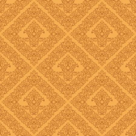 Seamless damask wallpaper of beige color.