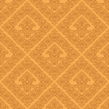 Seamless damask wallpaper of beige color. Stock Vector - 18022747