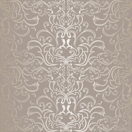 Silver seamless pattern. Vector