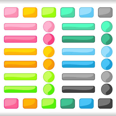 Buttons. Stock Vector - 18248347