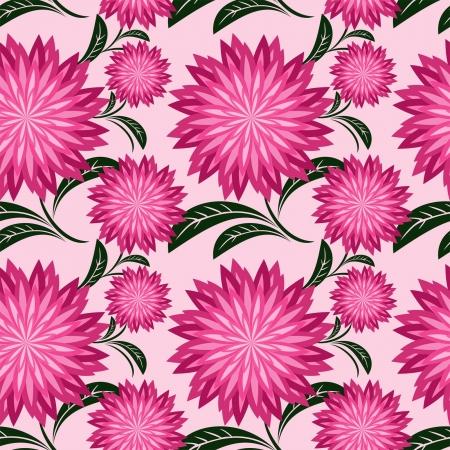 greener: Floral seamless pattern with chrysanthemums.