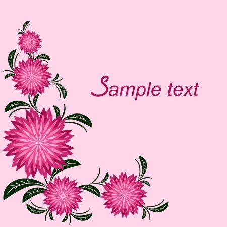 Floral border with chrysanthemums.