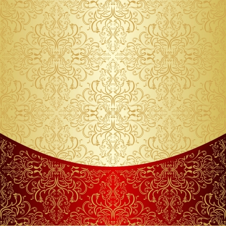 Luxury Background decorated a gold pattern  Vector
