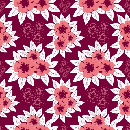 greener: Seamless  pink pattern with flowers