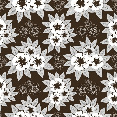 greener: Seamless  pattern with white flowers