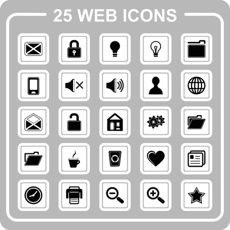 25 web Icons Stock Vector - 19248930