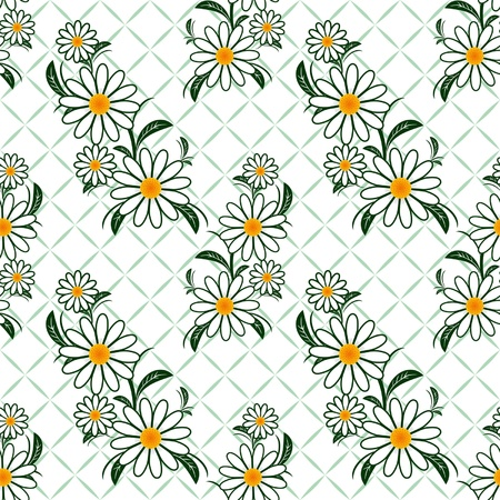 Flower seamless Pattern with Camomiles