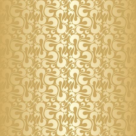 Golden abstract seamless pattern.