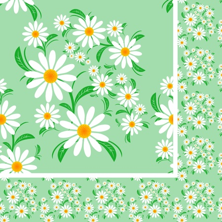 greener: Flower seamless Pattern with Chamomiles