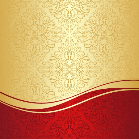 Luxury ornamental Background  gold and red