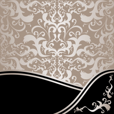 Luxury ornamental Background - silver and black  Vector