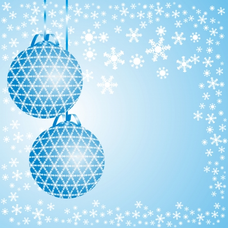 Blue christmas background with balls Stock Vector - 22414554