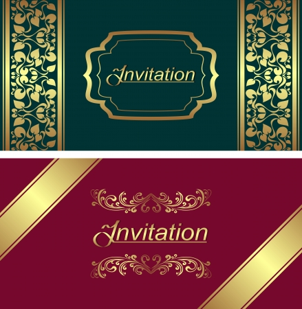 claret red: Invitation card template   Illustration