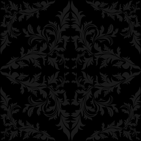 rich black wallpaper: Seamless floral charcoal Pattern   Illustration