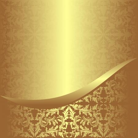 Lujoso fondo ornamental de oro Foto de archivo - 22956511