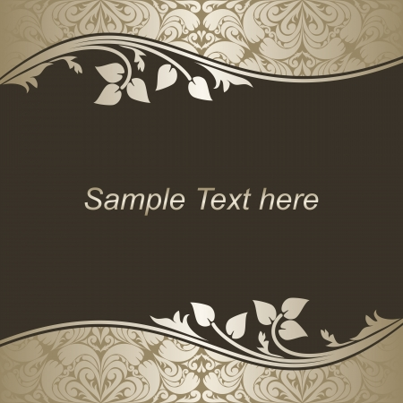 Luxury dark Background with silver floral Borders