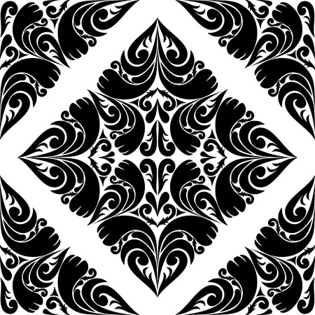 Seamless black Pattern on a white Background   Vector