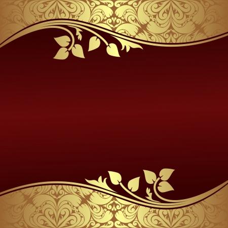 Fondo elegante con oro florales Fronteras Foto de archivo - 23660404