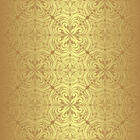 黄金の高級シームレスな壁紙