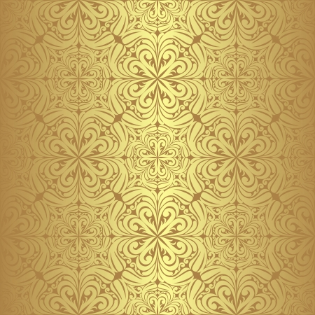 Luxury golden seamless Wallpaper  Vector