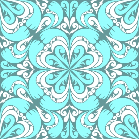 Seamless ornamental Pattern with  light blue-white Ornament   Vector