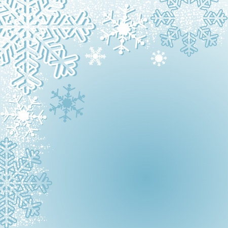 Winter seasonal Background with Snowflakes