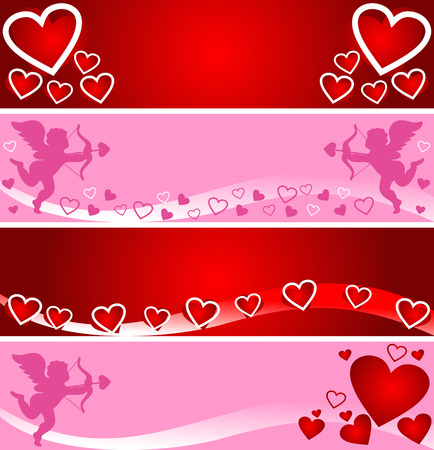 Bright banners for Valentines Day   Vector