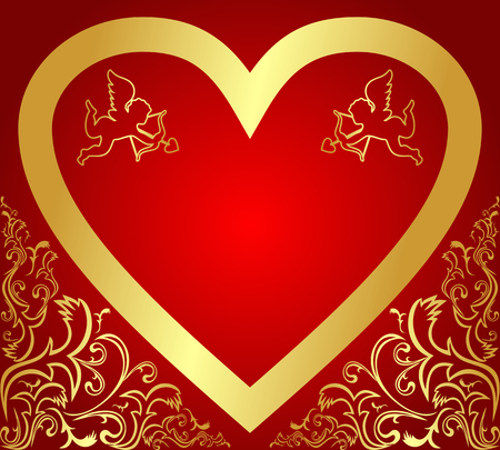 Valentine s Card or Background   Vector