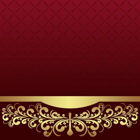 Luxe achtergrond versierd de gouden koninklijke Border.