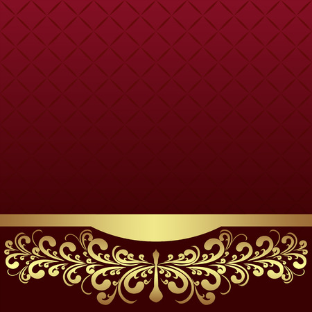 Luxury Background decorated the golden royal Border.