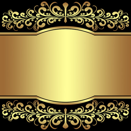 rich black wallpaper: Luxury Background decorated the golden royal Borders.